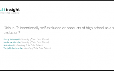 Girls in IT: intentionally self-excluded or products of high school as a site of exclusion?